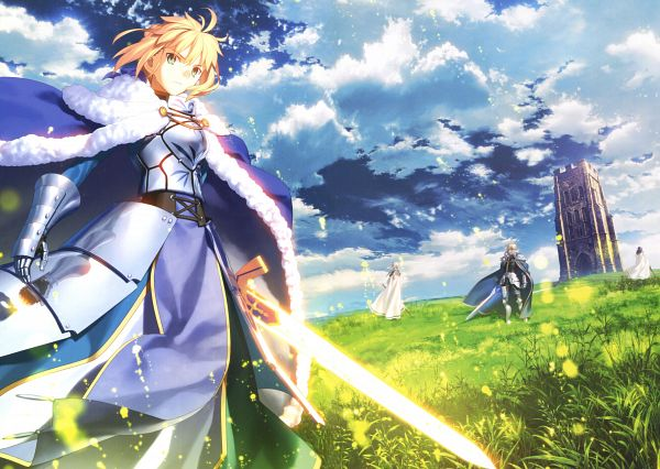 Tags: Anime, Takeuchi Takashi, TYPE-MOON, Garden Of Avalon, Return to Avalon -Fate Art Works-, Fate/stay night, Saber (Fate/stay night), Berserker (Fate/zero), Saber (Gawain), Lancelot (Fate/zero), Bedivere (Fate/stay night), Excalibur Galatine, Scan