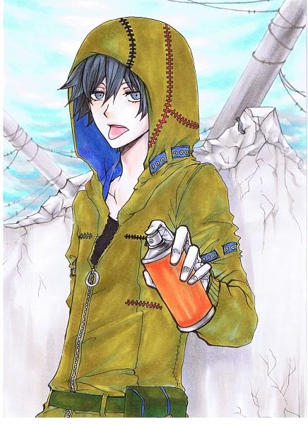 Tags: Anime, Pixiv Id 812536, Karneval, Gareki, Spray Can, Pixiv, Mobile Wallpaper, Fanart