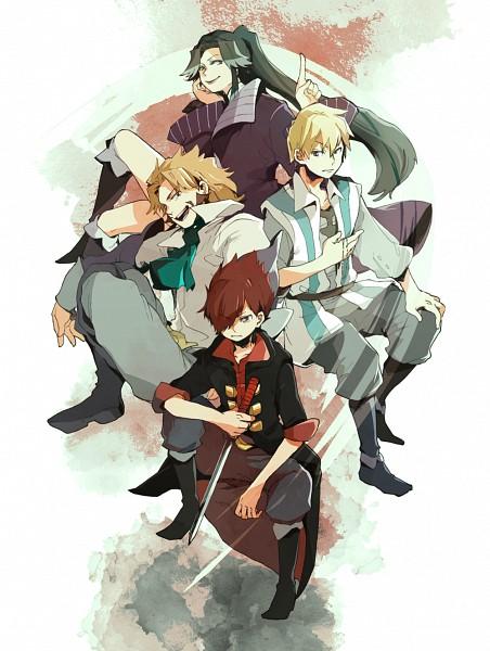 Tags: Anime, Pixiv Id 33342, Garo: Honoo no Kokuin, Alfonso San Valiante, German Luis, Leon Luis, Emma Guzman, Garo: The Carved Seal Of Flames