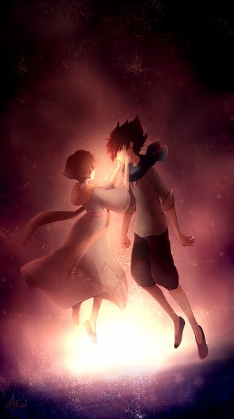 Tags: Anime, Millaii, Garo: Honoo no Kokuin, Leon Luis, Lara (Garo: Honoo No Kokuin), Pixiv, Fanart, Mobile Wallpaper, Fanart From Pixiv, Garo: The Carved Seal Of Flames