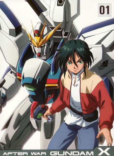 Tags: Anime, Nishimura Nobuyoshi, Sunrise (Studio), Kidou Shinseiki Gundam X, Garrod Ran, Scan, DVD (Source), Official Art