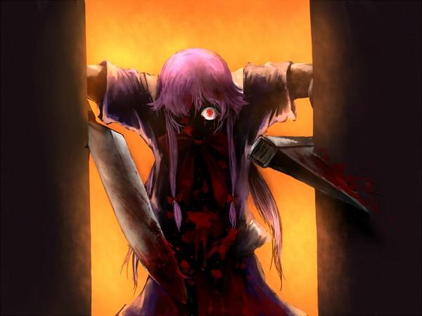 Tags: Anime, Pixiv Id 99423, Mirai Nikki, Gasai Yuno, Nico Nico Douga, Wallpaper