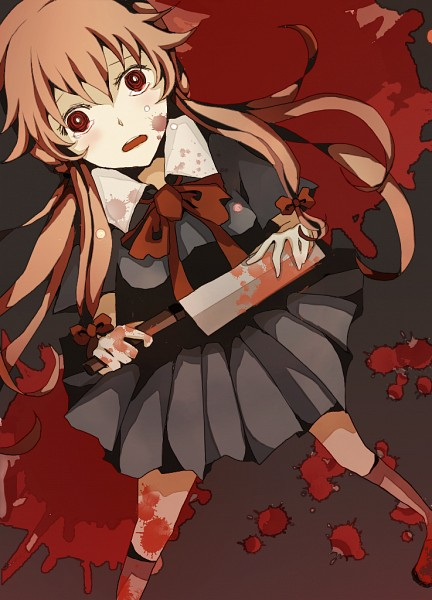 Tags: Anime, Pixiv Id 2592926, Mirai Nikki, Gasai Yuno, Mobile Wallpaper, Fanart, Pixiv