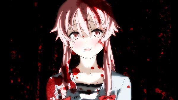 Tags: Anime, Pixiv Id 1007481, Mirai Nikki, Gasai Yuno, Facebook Cover, Wallpaper, Fanart, Pixiv, HD Wallpaper