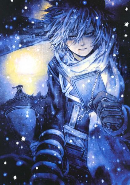 Tags: Anime, Asada Hiroyuki, Tegami Bachi, Shine (Tegami Bachi Illustration Book), Gauche Suede, Roda, Mobile Wallpaper, Official Art