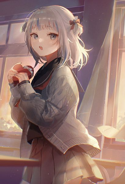 Tags: Anime, Pixiv Id 41464792, Gawr Gura, Gawr Gura Ch., Hololive, Chocolate Box, Heart Box, Holding Heart