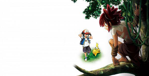 Tags: Anime, Marufuji Hirotaka, Oriental Light and Magic, Pokémon (Anime), Gekijouban Pokémon: Coco, Pokémon, Pikachu, Coco (Pokémon), Satoshi (Pokémon), Key Visual, Official Art, Cover Image