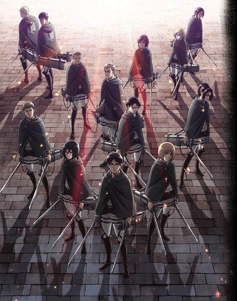 Tags: Anime, WIT STUDIO, Attack on Titan, Gekijouban Shingeki no Kyojin Season 2: Kakusei no Houkou, Eren Jaeger, Bertholdt Fubar, Levi Ackerman, Hange Zoë, Reiner Braun, Christa Renz, Conny Springer, Jean Kirschstein, Mikasa Ackerman