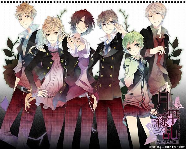 Tags: Anime, Kuroyuki, IDEA FACTORY, Gekka Ryouran ROMANCE, Kaneda Wabisuke, Fuji Reito, Saionji Seri, Kano Atsumori, Yaehara Daria, Kano Aoi, Official Art