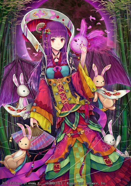 Tags: Anime, Hourainingyou, BROCCOLI, Nippon Ichi Software, Z/X - Zillions of Enemy X, Gekkou No Maki Queen Kaguya, Pixiv, Mobile Wallpaper, Official Art, Official Card Illustration, Demon Princess Of The Moonlight Queen Kaguya