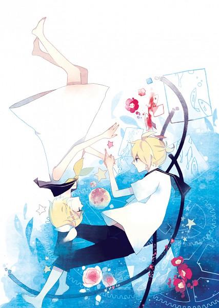Tags: Anime, Kyang692, VOCALOID, Kagamine Len, Kagamine Rin, Pixiv, Mobile Wallpaper, Gemini (VOCALOID), Kagamine Mirrors