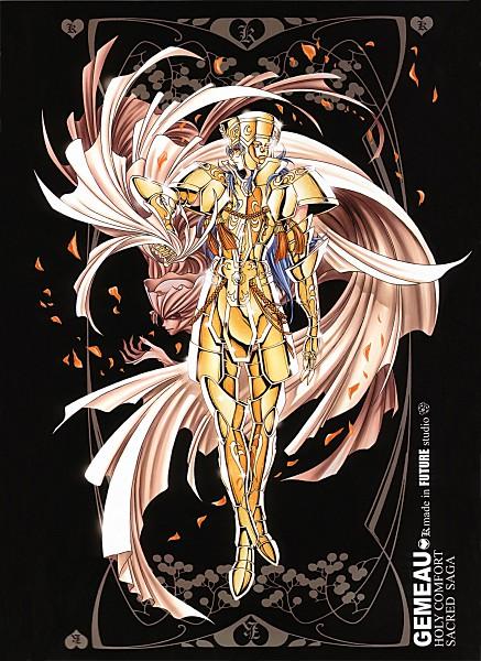 Tags: Anime, Future Studio, Saint Seiya, Sacred Saga, Gemini Saga, Mobile Wallpaper, Gold Saints