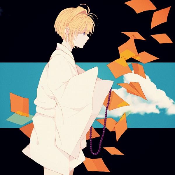 Tags: Anime, Shinya, Saiyuki, Genjyo Sanzo, Monk, Paper Airplane, Fanart