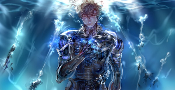 Tags: Anime, Pixiv Id 1228868, One Punch Man, Genos (One Punch Man), Wallpaper, Fanart, Fanart From Pixiv, Facebook Cover, Pixiv