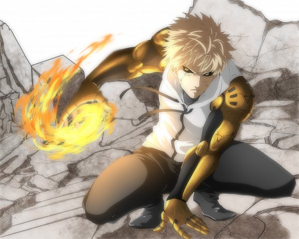 Tags: Anime, Pixiv Id 10435082, One Punch Man, Genos (One Punch Man), Fanart From Pixiv, Facebook Cover, Pixiv, Fanart