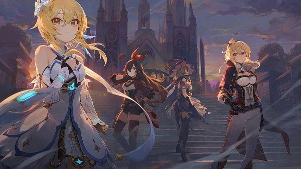 Tags: Anime, Pixiv Id 1878082, Genshin Impact, Lisa (Genshin Impact), Amber (Genshin Impact), Jean (Genshin Impact), Lumine (Genshin Impact), Twitter