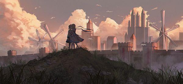 Tags: Anime, Pixiv Id 15131268, Genshin Impact, Barbara (Genshin Impact), Lumine (Genshin Impact), Windmill