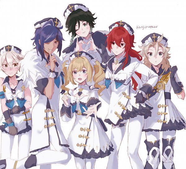 Tags: Anime, Pixiv Id 15318424, Genshin Impact, Bennett (Genshin Impact), Venti, Albedo (Genshin Impact), Diluc, Barbara (Genshin Impact), Kaeya, Genshin Impact (Cosplay), Barbara (Genshin Impact) (Cosplay)