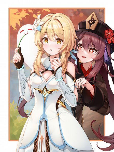 Tags: Anime, Pixiv Id 20343508, Genshin Impact, Hu Tao, Lumine (Genshin Impact)