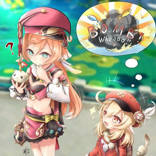 Tags: Anime, Pixiv Id 3769719, Genshin Impact, Yanfei, Klee (Genshin Impact)