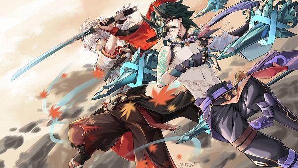 Tags: Anime, Pixiv Id 58526732, Genshin Impact, Xiao (Genshin Impact), Kaedehara Kazuha, Naavel, 4K Ultra HD Wallpaper, HD Wallpaper, Wallpaper