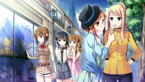 Tags: Anime, Kantaka, Galactica, Gensou Douwa ALICETALE, Himemiya Yuri, Hyoudou Elica, Sannoumaru Yoshika, Anjou Tomochika, Tounosawa Fumi, CG Art, Wallpaper
