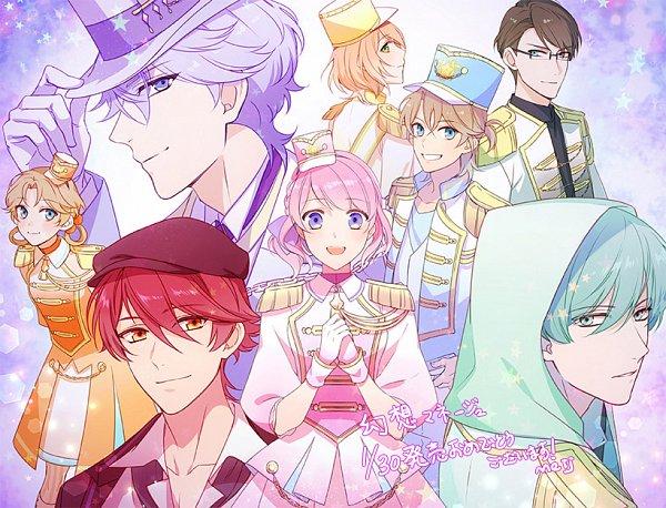Tags: Anime, Meij (Artist), MAGES., Gensou ManèGe, Clara (Gensou ManèGe), Serge (Gensou ManèGe), Arnaud (Gensou ManèGe), Hugo (Gensou ManèGe), Luciole (Gensou ManèGe), Lyon (Gensou ManèGe), Crier (Gensou ManèGe), Emma (Gensou ManèGe), Official Art