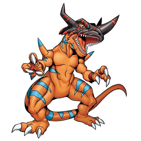 Tags: Anime, Digimon Tamers, Digimon Savers, GeoGreymon, Dinosaur, Cover Image, Official Art