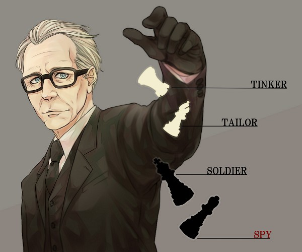 Tags: Anime, Pixiv Id 411126, Tinker Tailor Soldier Spy, George Smiley, Chess, Pixiv