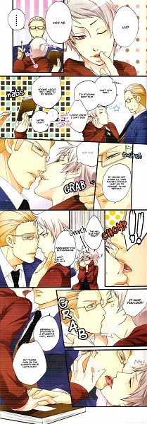 Tags: Anime, Axis Powers: Hetalia, Germany, Prussia, Artist Request, Scan, Doujinshi Page, Comic, Gakuen Hetalia, GerPru, Axis Power Countries, Germanic Countries