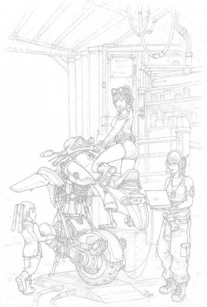 Tags: Anime, Gertruida, Workshop, Motorcycle Helmet, Traditional Media, Original