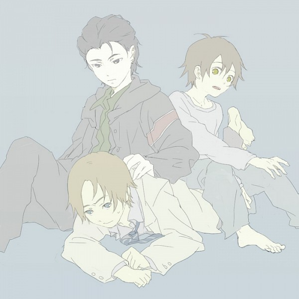 Tags: Anime, Pixiv Id 12132, Ghost Hound, Komori Tarou, Oogami Makoto, Nakajima Masayuki