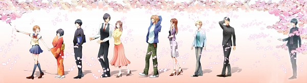 Tags: Anime, Nikon, Ghost Hunt, Takigawa Houshou, Koujo Lin, Hara Masako, Shibuya Kazuya, John Brown, Taniyama Mai, Eugene Davis, Matsuzaki Ayako, Yasuhara Osamu, Spring