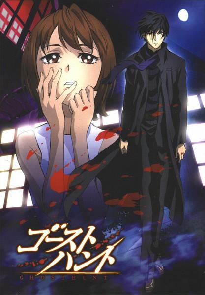 Tags: Anime, Ghost Hunt, Shibuya Kazuya, Taniyama Mai, Mobile Wallpaper, Official Art