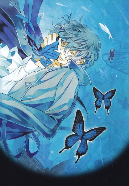 Tags: Anime, Pandora Hearts, Gilbert Nightray, Mobile Wallpaper, Scan, Calendar 2011, Calendar (Source), Official Art