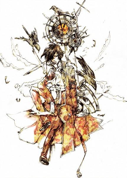Tags: Anime, Pixiv Id 754738, SQUARE ENIX, Pandora Hearts, Gilbert Nightray, Traditional Media, Fanart, Pixiv, Mobile Wallpaper, Fanart From Pixiv