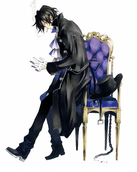 Tags: Anime, Mochizuki Jun, Pandora Hearts, Pandora Hearts ~Odds And Ends~, Gilbert Nightray, Official Art, Scan