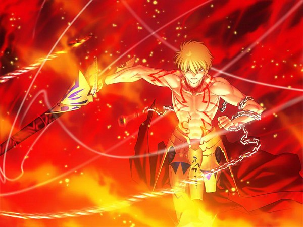 Tags: Anime, TYPE-MOON, Fate/stay night, Gilgamesh, CG Art