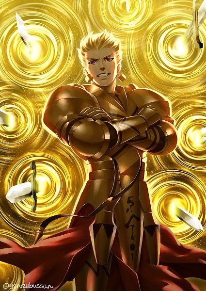 Tags: Anime, Pixiv Id 24726, Fate/Grand Order, Gilgamesh, Gate of Babylon, Fanart, Fanart From Pixiv, Pixiv