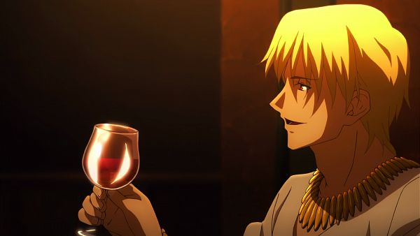 Tags: Anime, ufotable, Fate/zero, Gilgamesh, Royal Robe, King, Majestic, Screenshot, Wallpaper