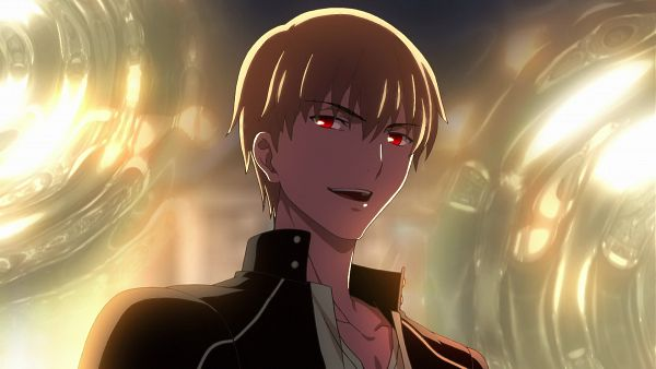Tags: Anime, ufotable, Fate/stay night: Unlimited Blade Works, Fate/stay night, Gilgamesh, Majestic, Gate of Babylon, King, Screenshot, Wallpaper