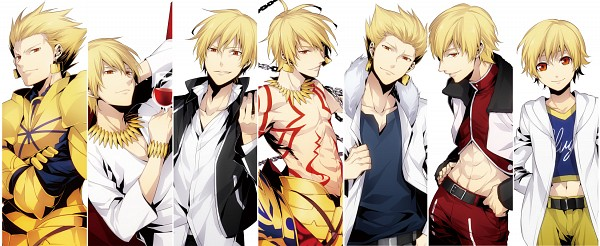 Tags: Anime, ryugo, Fate/zero, Fate/hollow ataraxia, Fate/stay night, Ko-gil, Gilgamesh, Fanart, Facebook Cover, Pixiv