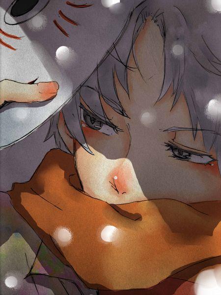 Tags: Anime, HARADA021, Hotarubi no Mori e, Gin (Hotarubi no Mori e), Holding Mask, deviantART, Fanart