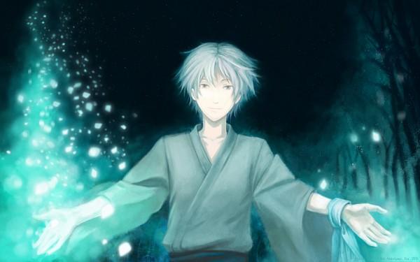 Tags: Anime, Eva-eva, Hotarubi no Mori e, Gin (Hotarubi no Mori e), Disappearing, Wallpaper, Fanart, deviantART, HD Wallpaper