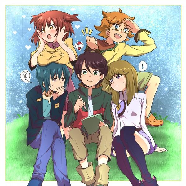 Tags: Anime, Banchii, Ginga Kikoutai Majestic Prince, Asagi Toshikazu, Kugimiya Kei, Suruga Ataru, Hitachi Izuru, Heart Print, Sketchbook, Pixiv, Majestic Prince