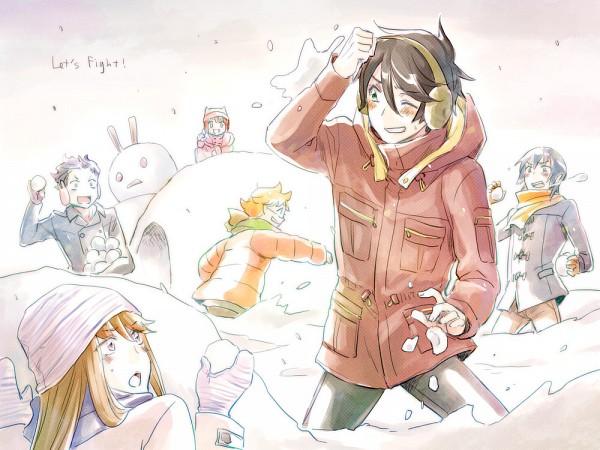 Tags: Anime, Pixiv Id 223809, Ginga Kikoutai Majestic Prince, Suruga Ataru, Kuroki Ange, Asagi Toshikazu, Hitachi Izuru, Irie Tamaki, Kugimiya Kei, Snowball, Pixiv, Majestic Prince