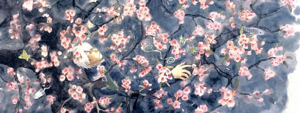 Tags: Anime, Urushibara Yuki, Mushishi, Ginko (Mushishi), Facebook Cover
