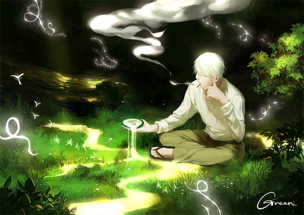 Tags: Anime, GREEN (Artist), Mushishi, Ginko (Mushishi), Pixiv, Fanart, Fanart From Pixiv