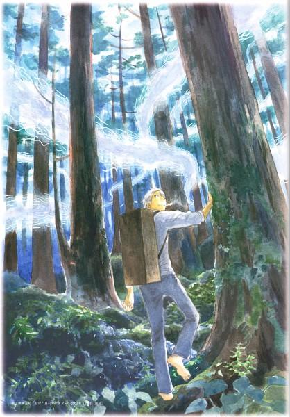 Tags: Anime, Urushibara Yuki, Mushishi, Ginko (Mushishi), Mobile Wallpaper, Scan, Official Art