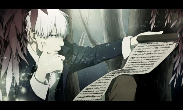 Tags: Anime, Komo (Sleepy), Mushishi, Ginko (Mushishi), Pixiv, Fanart